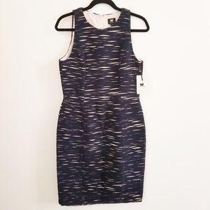 Worth embroidery sheath dress